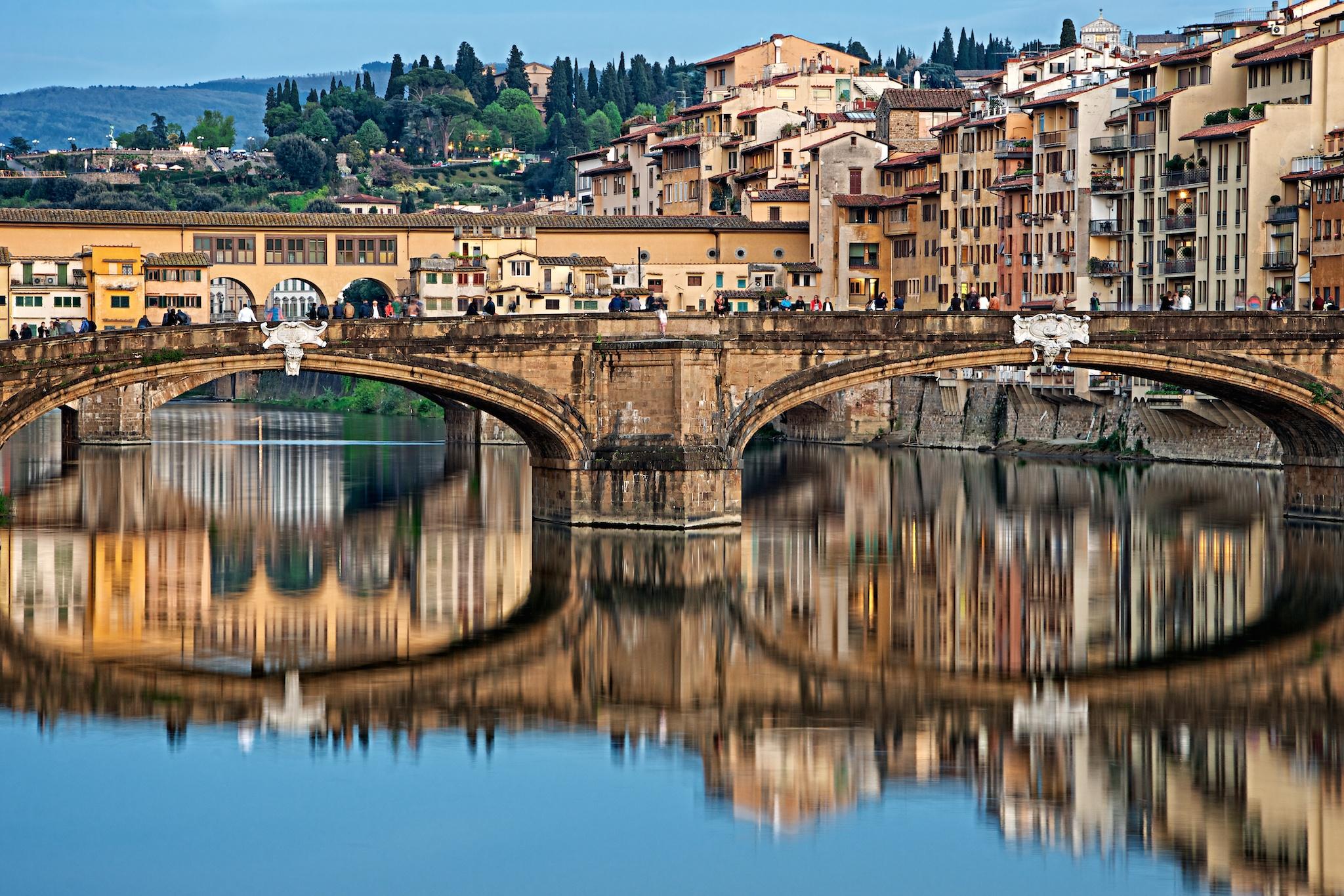 Ponte Santa Trinita & Ponte Vecchio, Florence, Italy