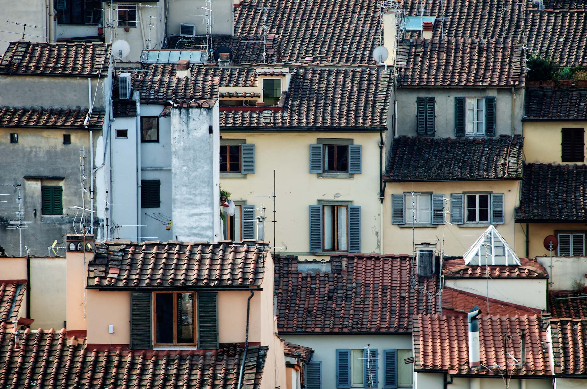Tile Rooftops, Florence, Italy