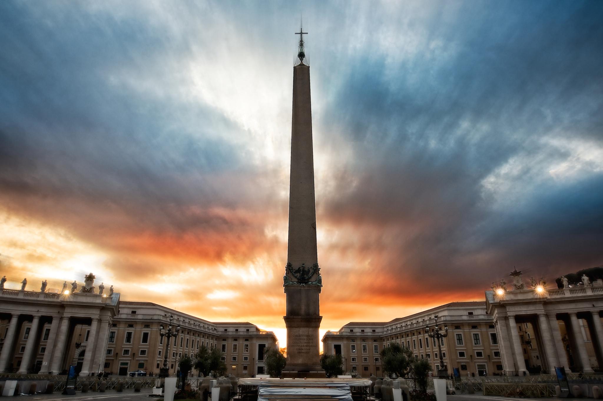 Sunburst At St. Peter's Square, Vatican City