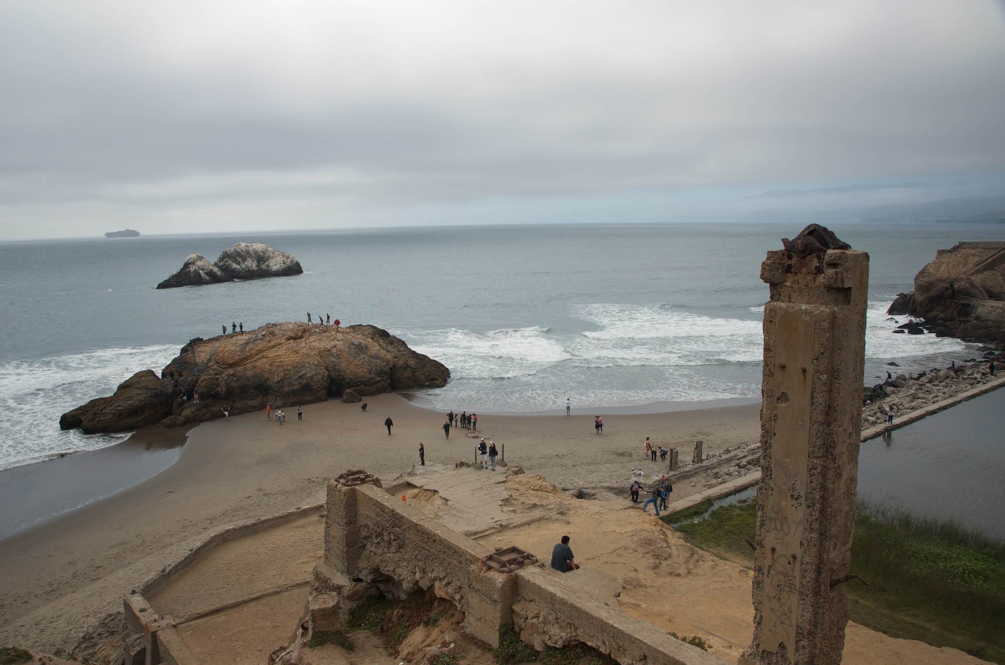 Sutro Baths, Out of camera