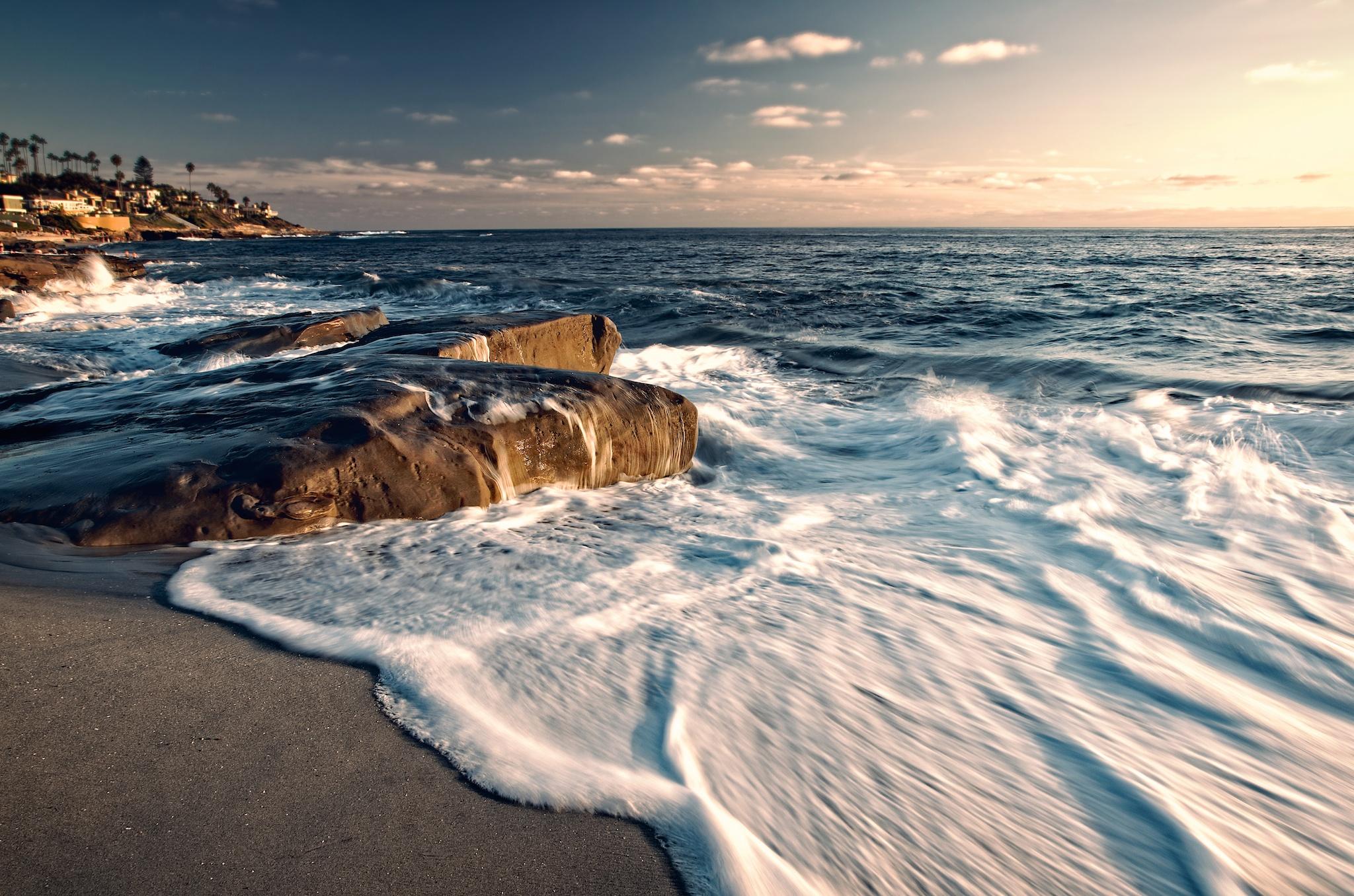 Foamy Surf at Windansea Beach, La Jolla