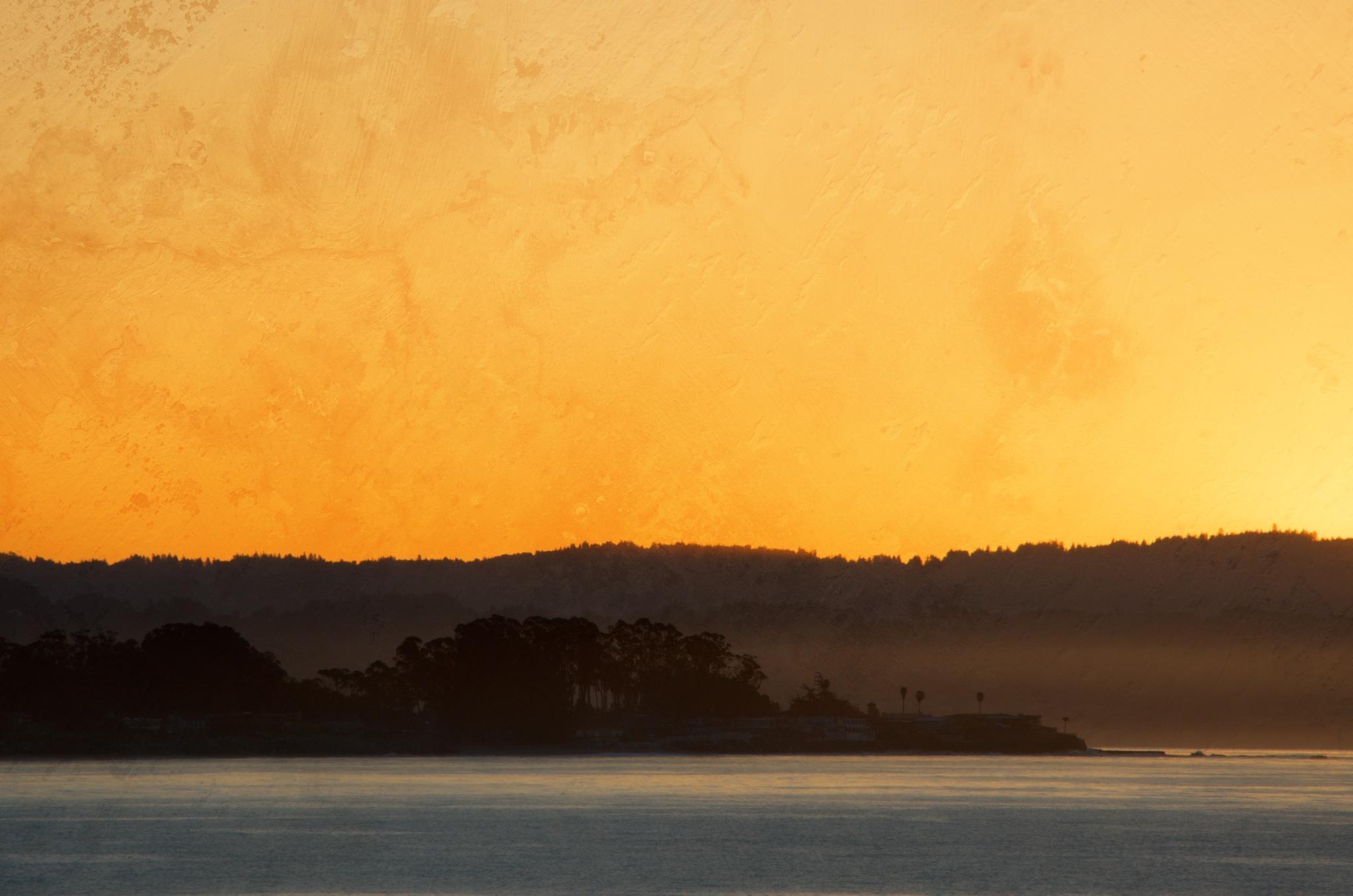 Silhouetted Santa Cruz