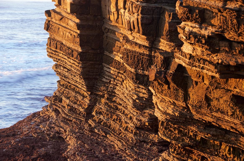 Cliffs in Cabrillo National Monument Park, San Diego