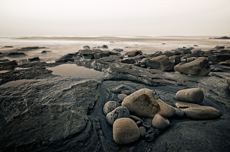 Stones At Sunset Cliffs