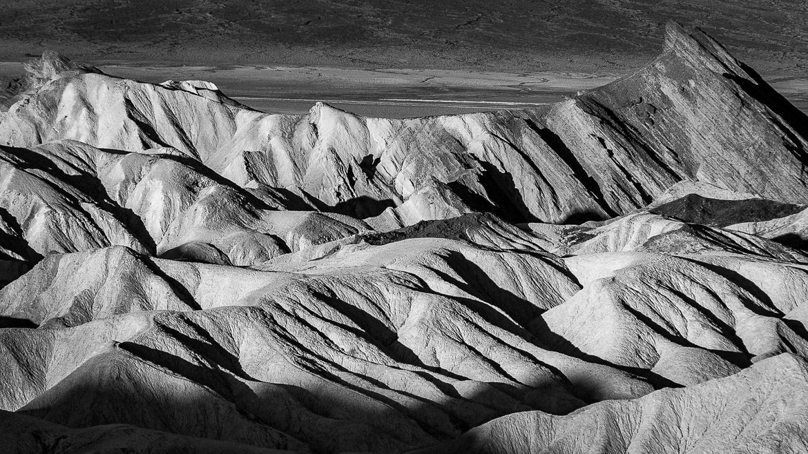Light And Shadow In Death Valley