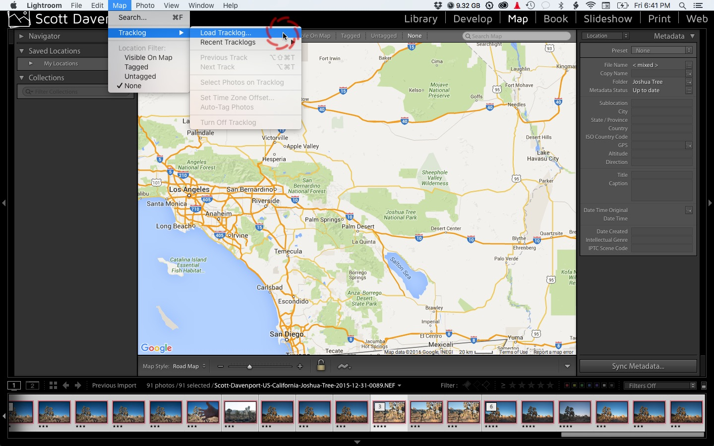 3 Steps To Geotag Photos With GPX Track Logs In Lightroom