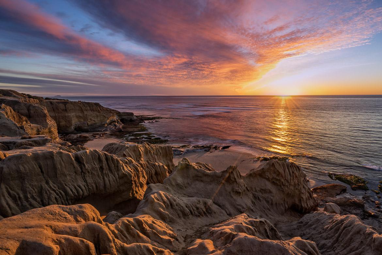 Starburst At Sunset Cliffs