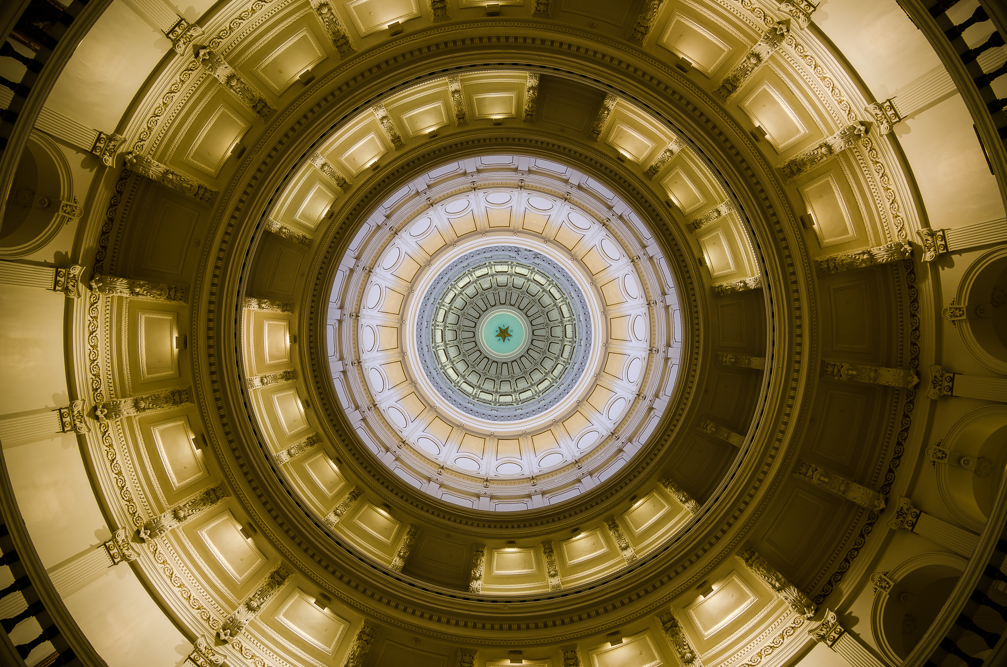 Inside The Dome Of The Texas State Capital