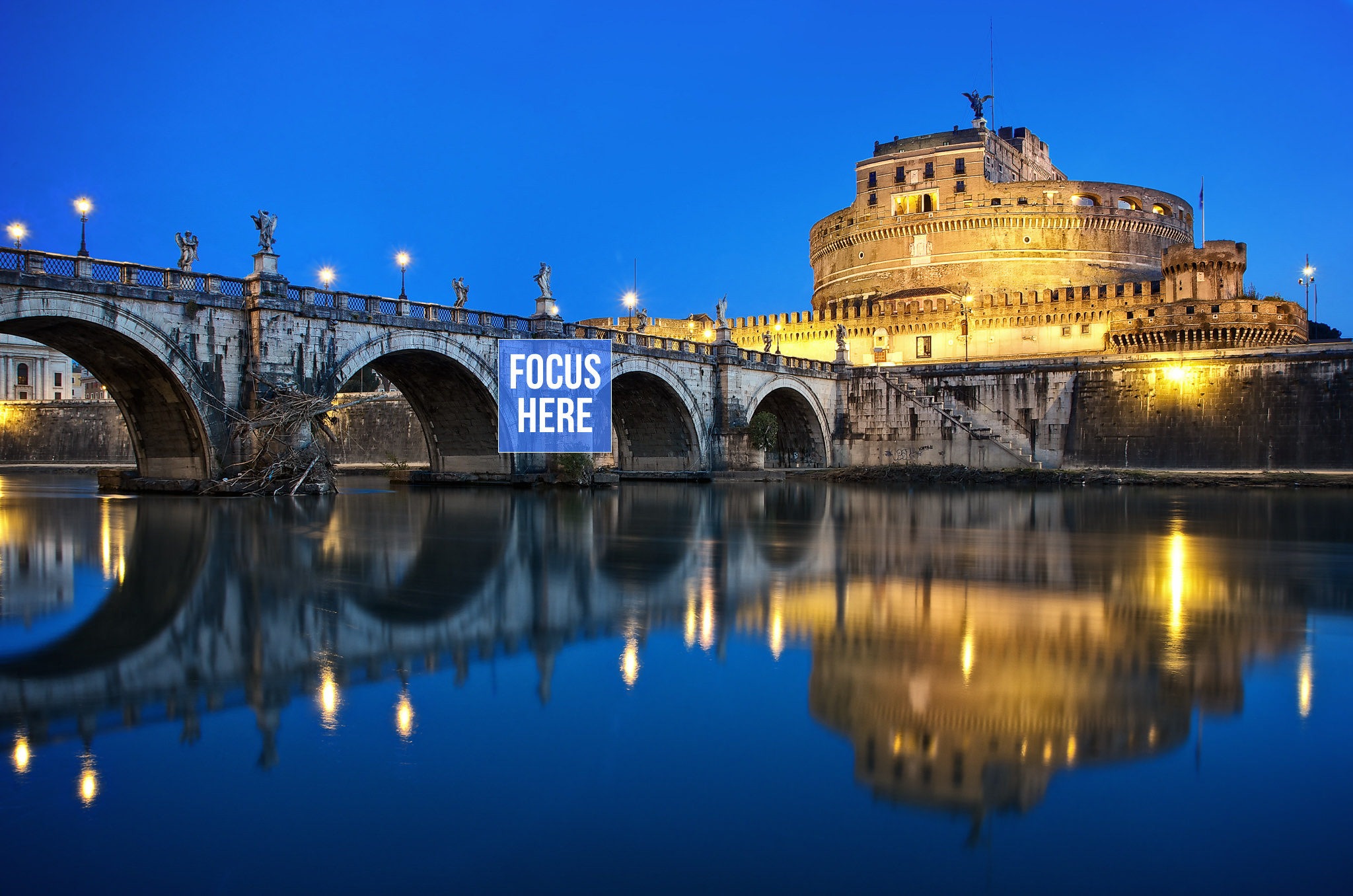 The Castel Sant'Angelo At Dawn