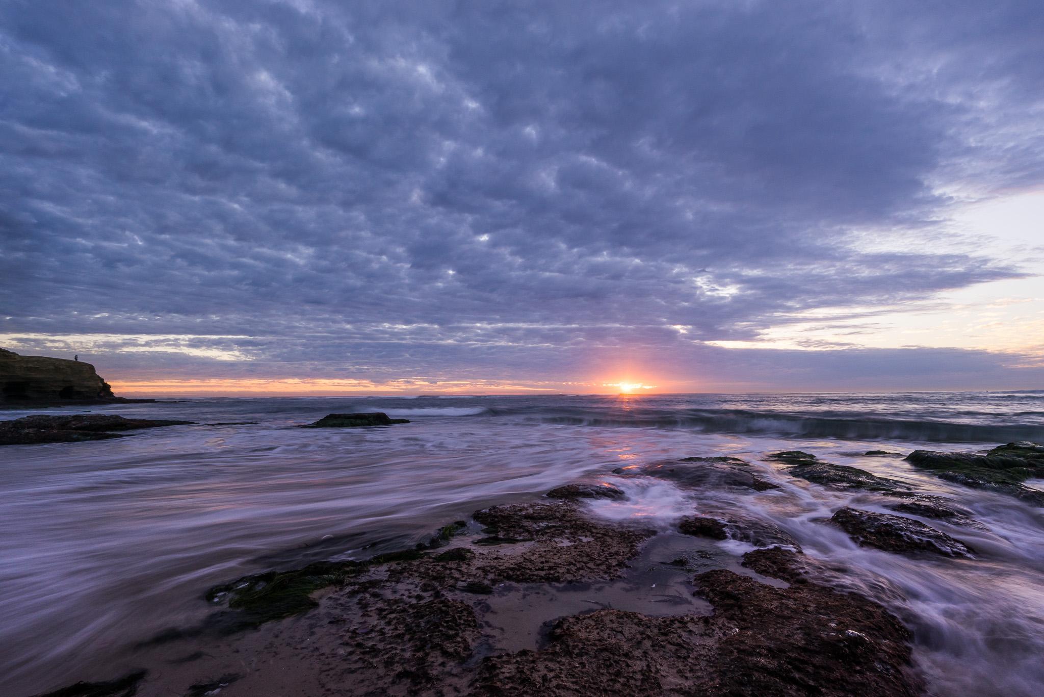 Sunset And Swirls
