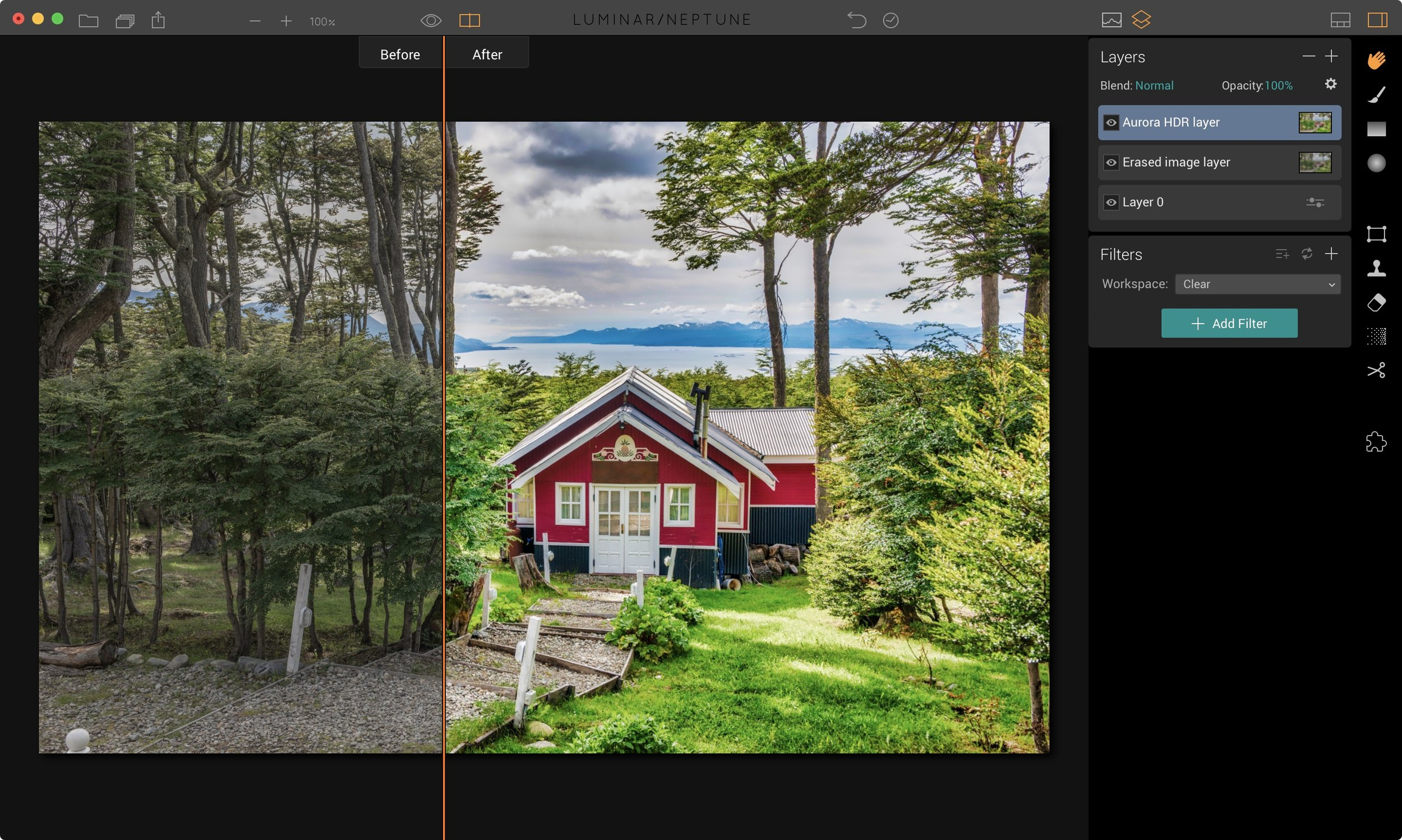 Luminar : Round trips to other Macphun apps like Aurora HDR are added as a new layer