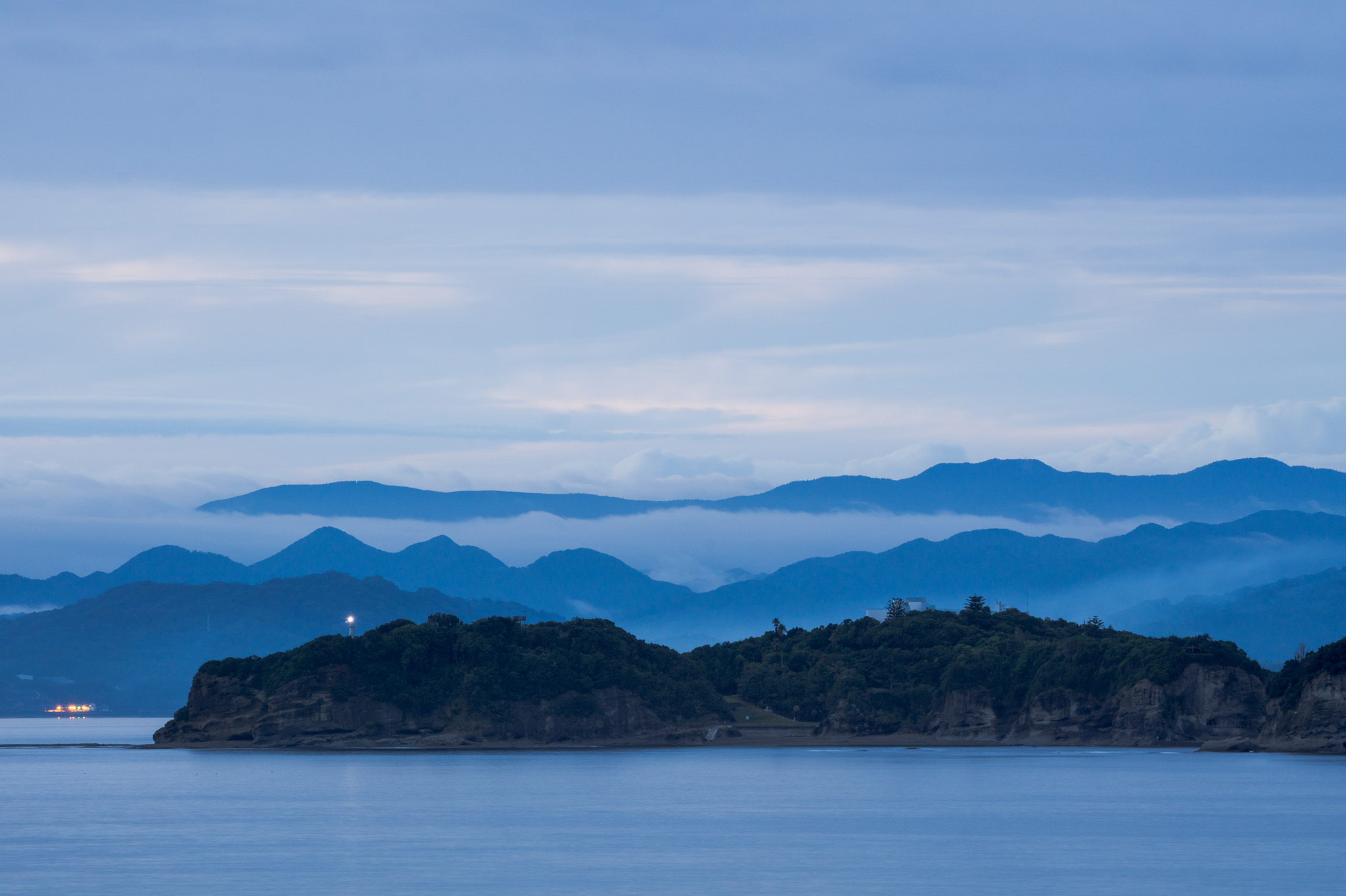 Misty Blues In Japan
