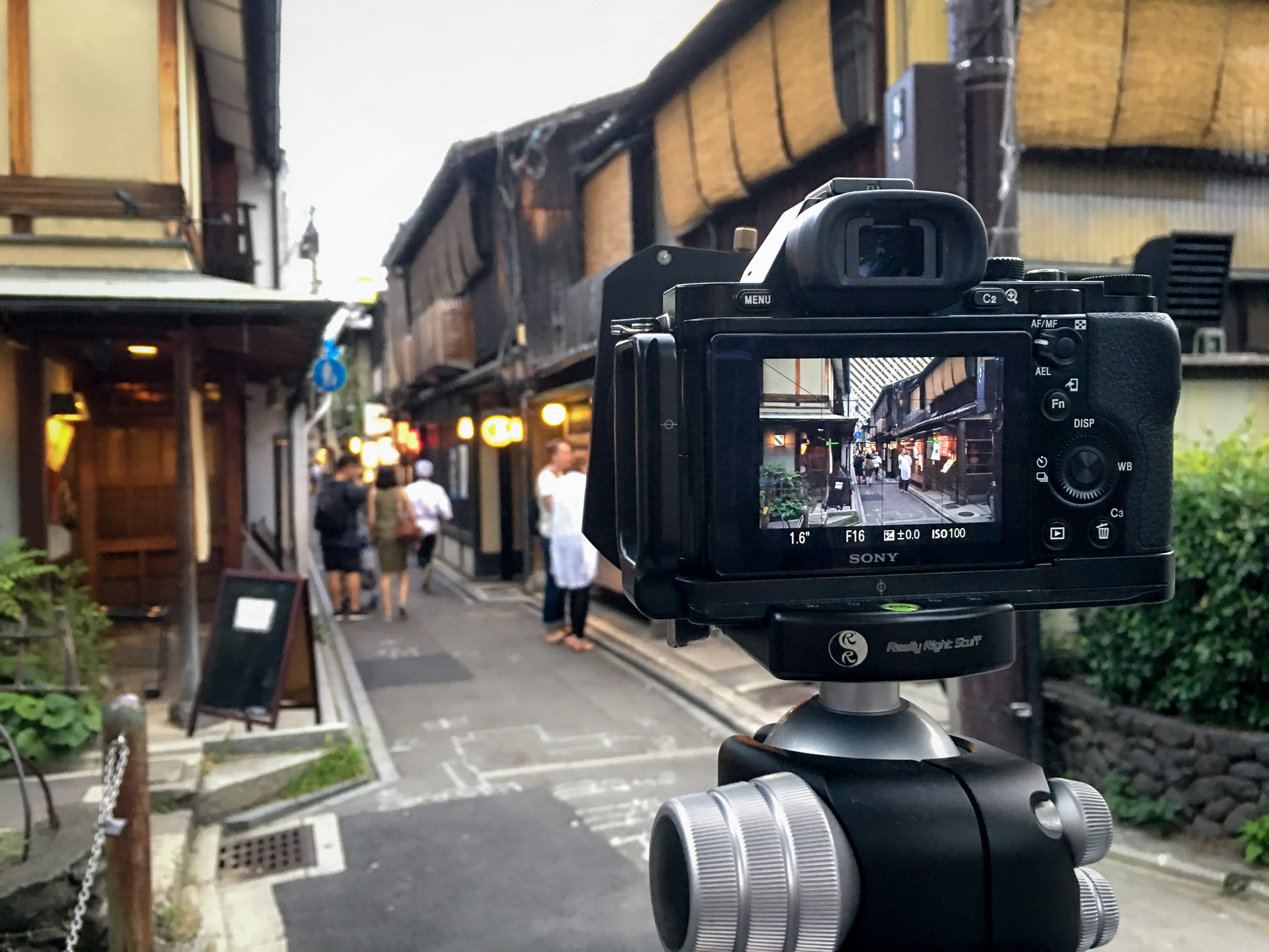 Behind the scenes in Kyoto. Check back later this week for processing notes on a photo from this shoot.