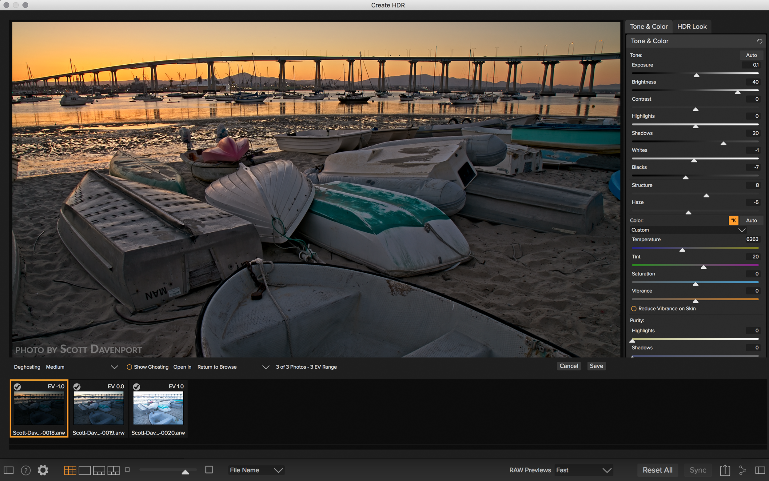 HDR Merge in Photo RAW 2018