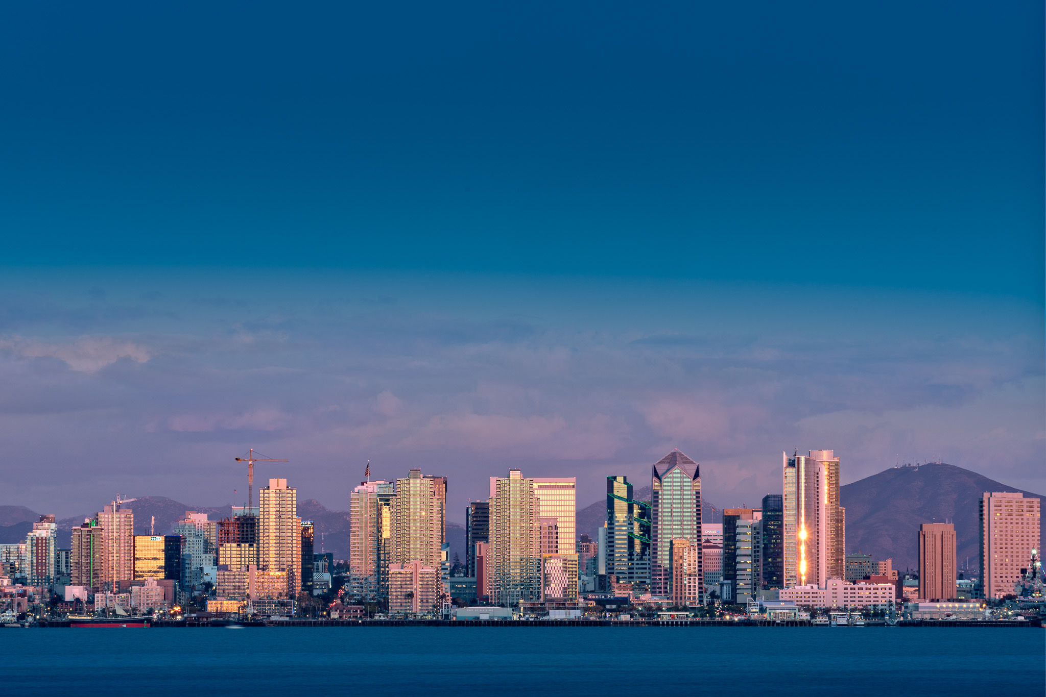 My composite image of the San Diego skyline using this technique.