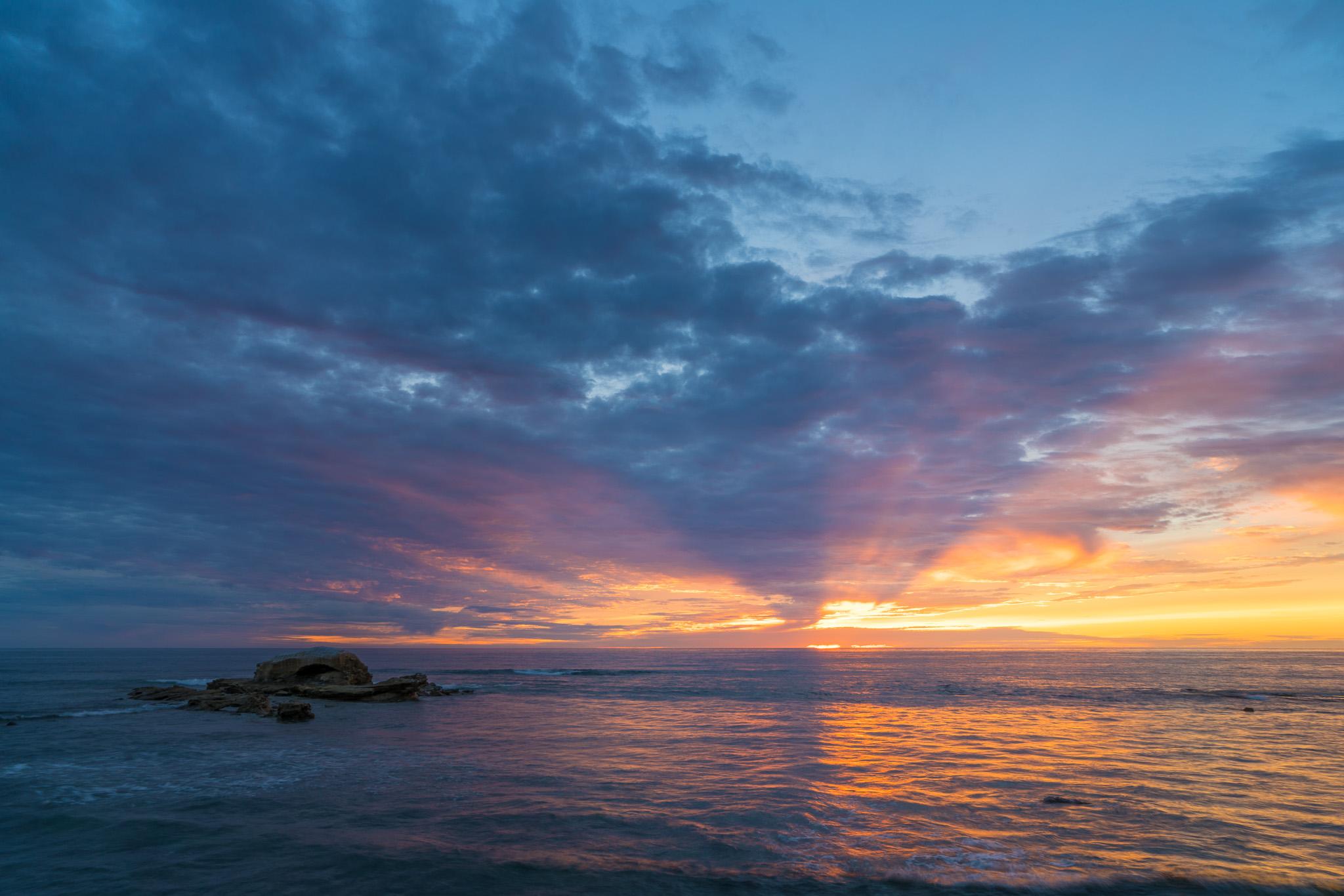 Surprise Sunset At Bird Rock
