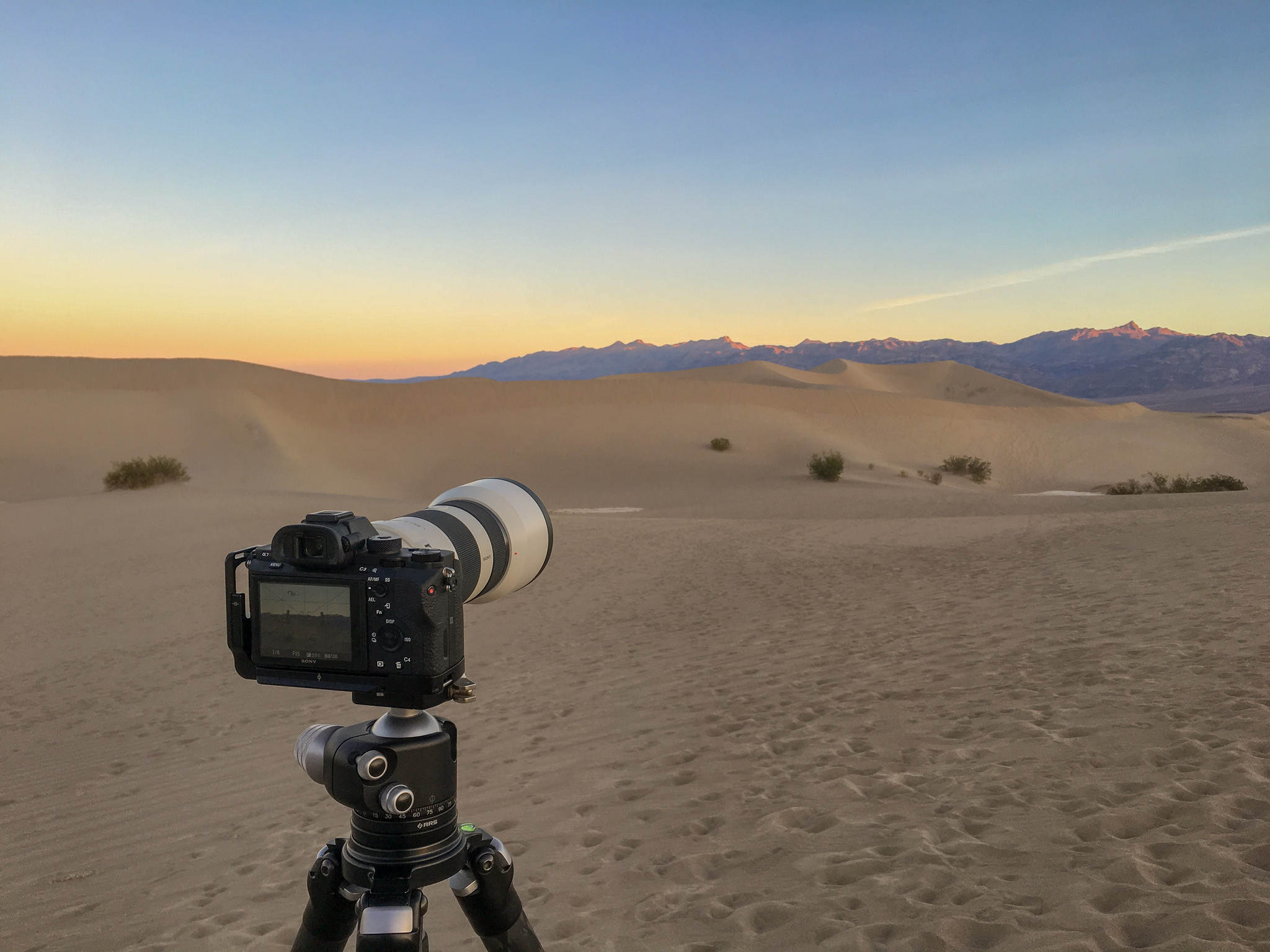 Camera Setup At Mesquite Dunes