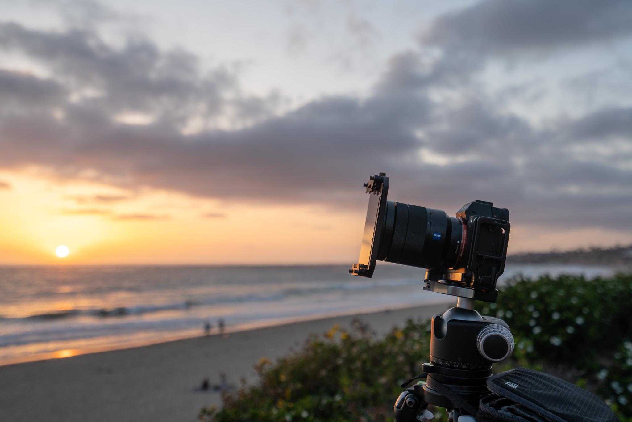 My Camera At Pacific Beach At Sunset