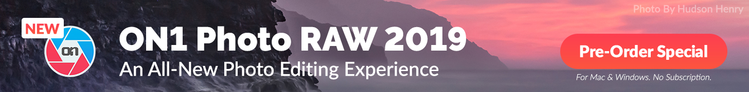 Pre-order ON1 Photo RAW 2019 for $99  (upgrade $79)