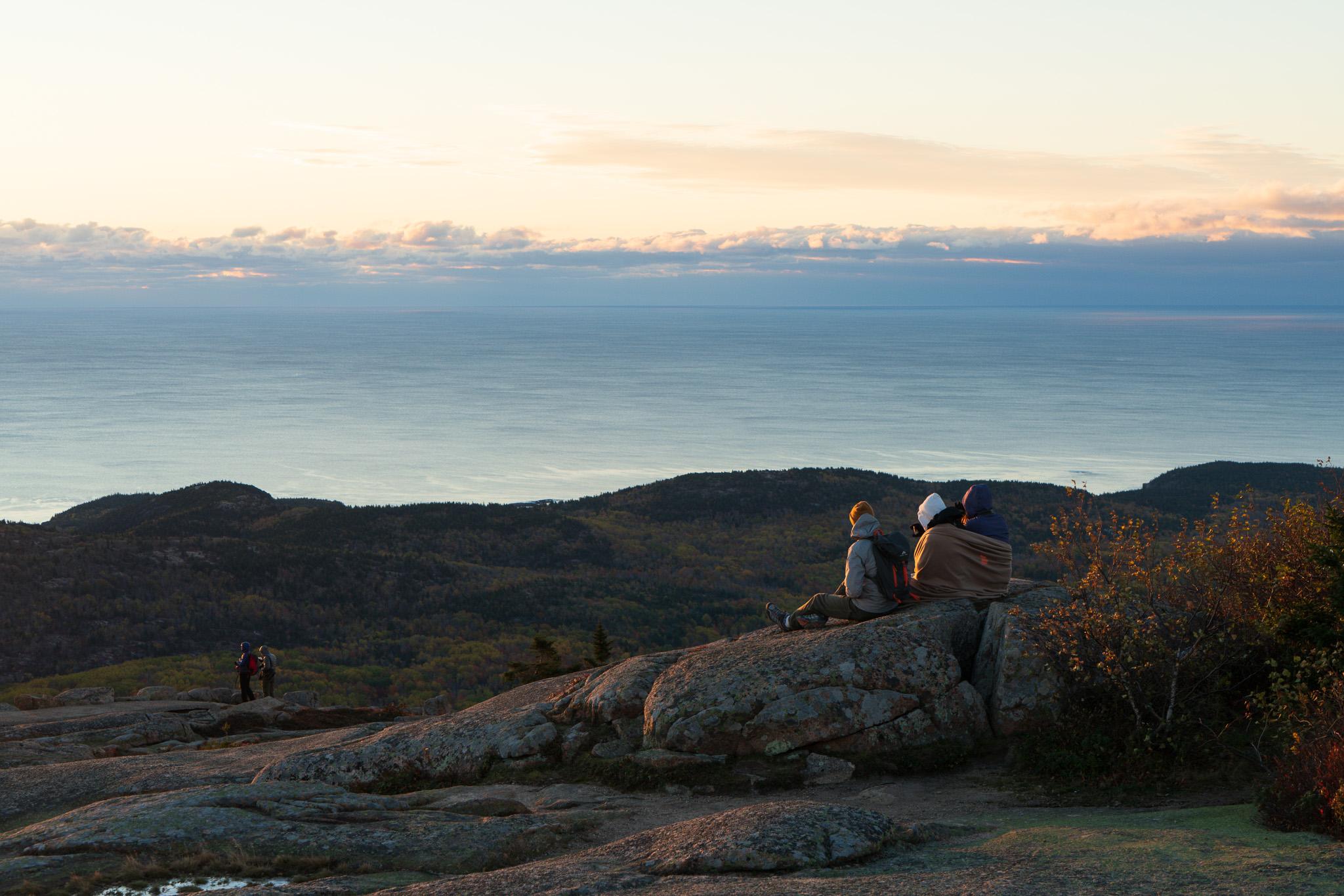 Watching Sunrise On Cadillac Mountain, Original