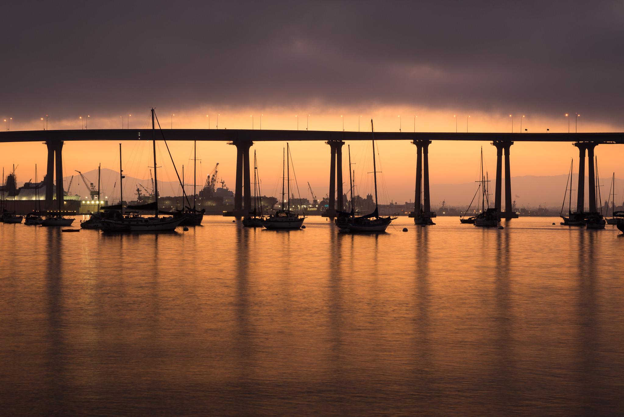 Dark Sunrise In Coronado