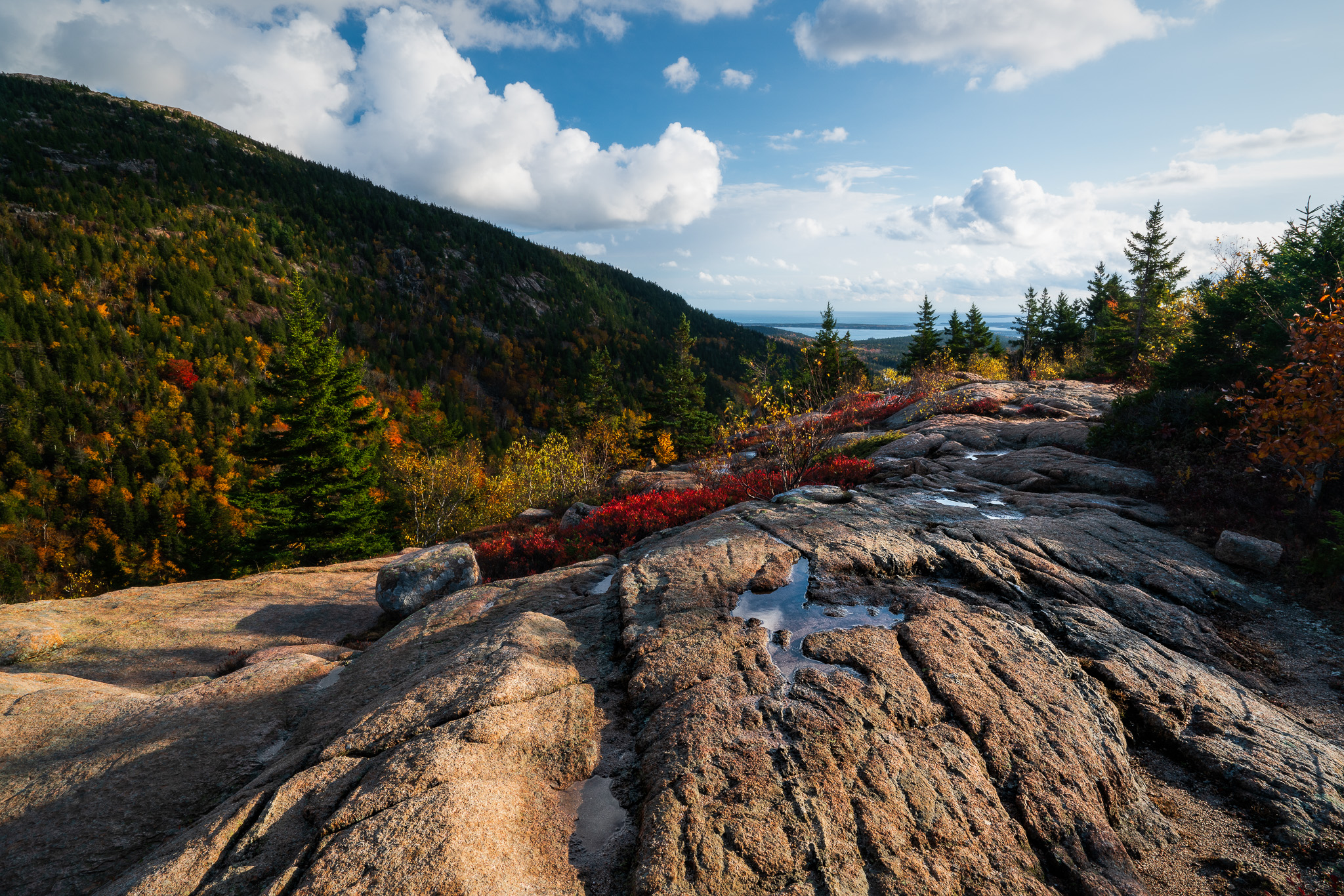 Approaching Bubbles Divide In Acadia National Park