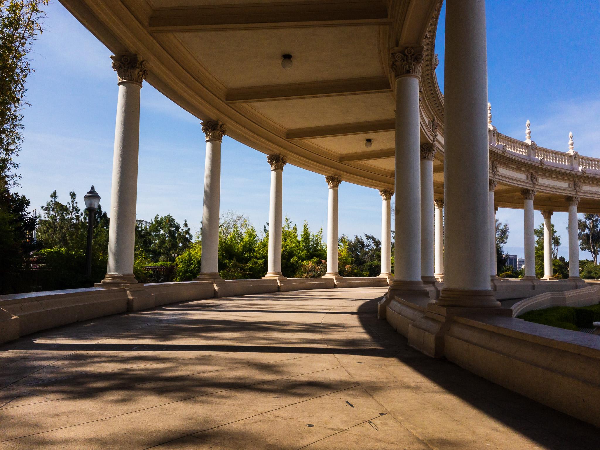 Columns Of The Organ Pavillion Balboa Park