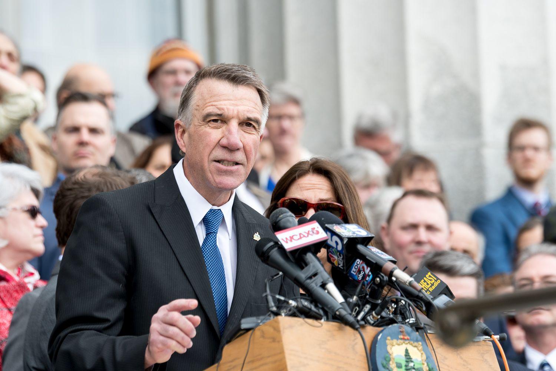 Governor Scott speaks at the signing of gun legislation. Photo by Bob LoCicero
