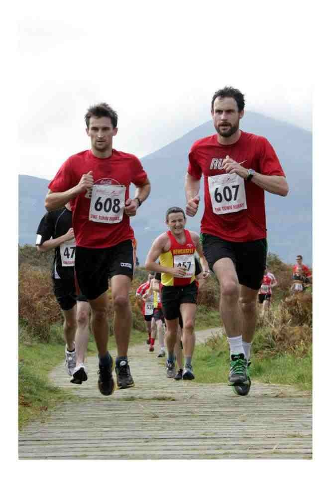 The Great Dundrum run, just one of the amazing races and runs close to Belfast. Colm (left) & Liam (right) running...