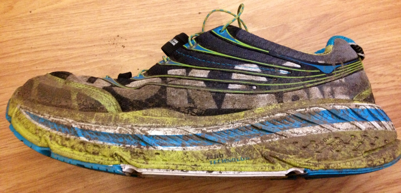 The large cushioned heel and sole provide comfort, these are road shoes with trail versions available