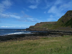 Part of the route around, just past the Giant's Causeway, which the Causeway Coast Ultra runs past
