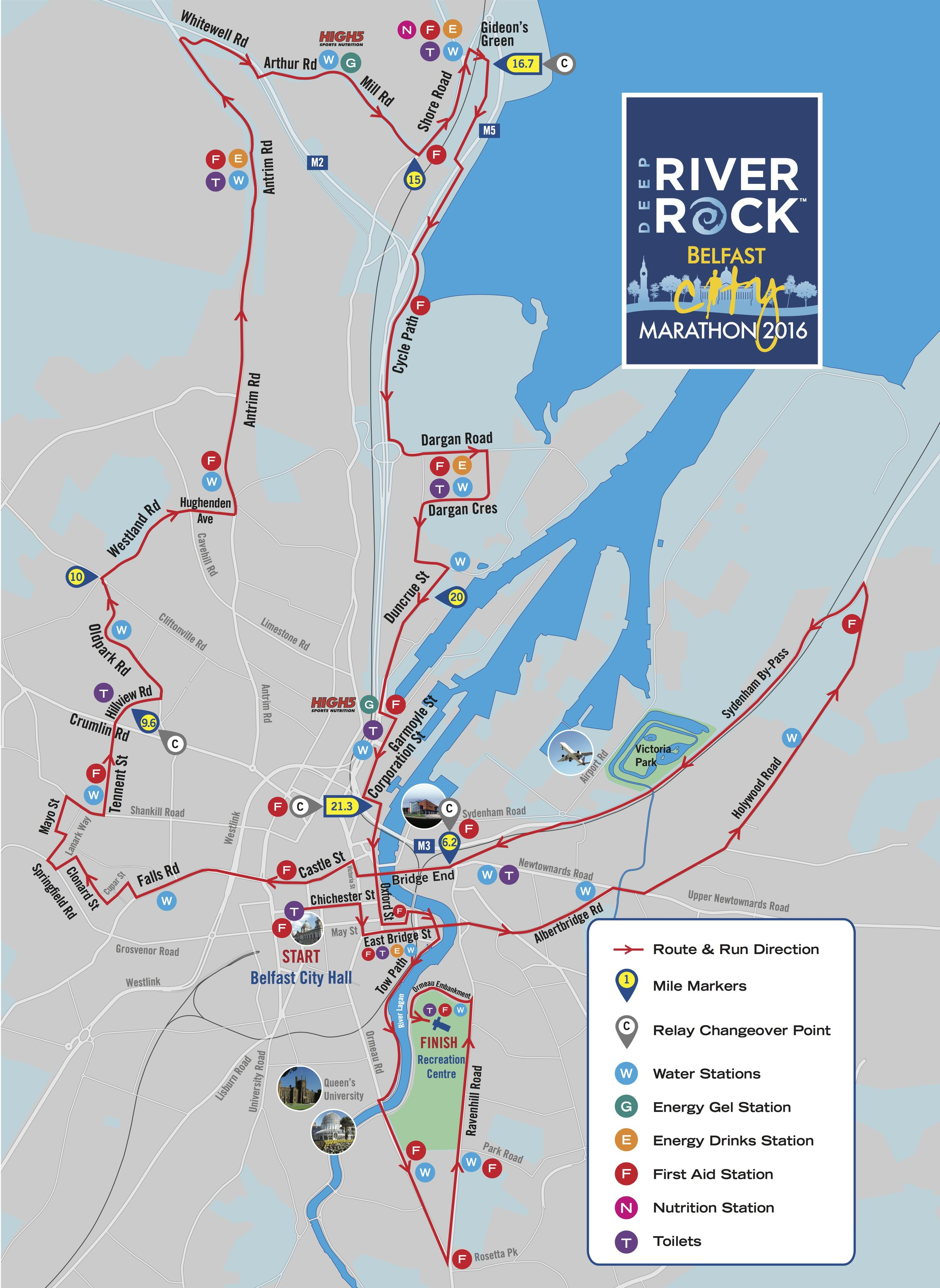 Belfast City Marathon 2016 Route