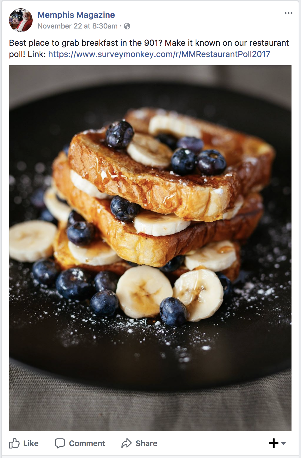 My French Toast being talked about in Memphis