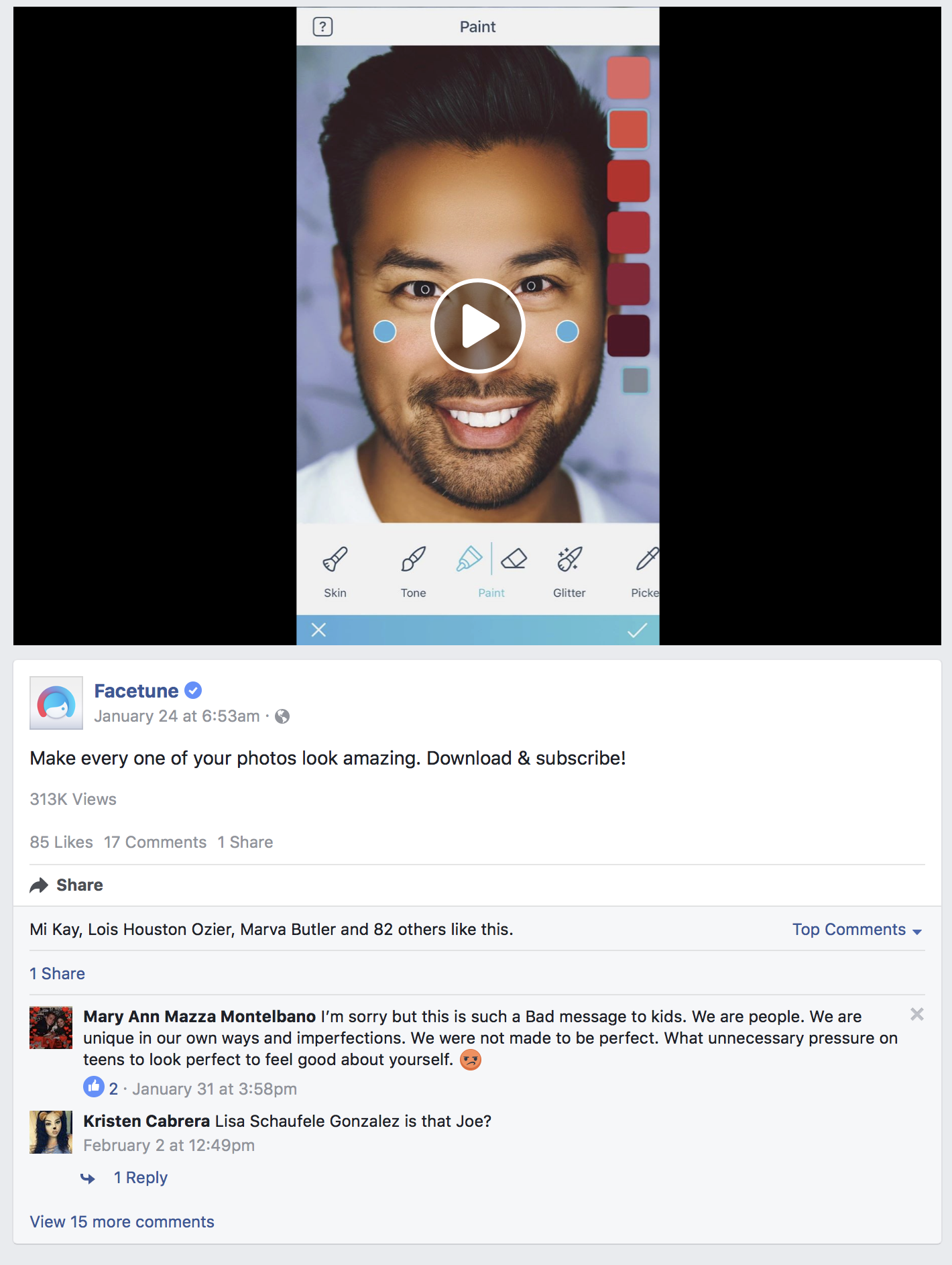 Facetune used my mug on a video for their app. Which was pretty cool but kind of strange. lol    Video Link