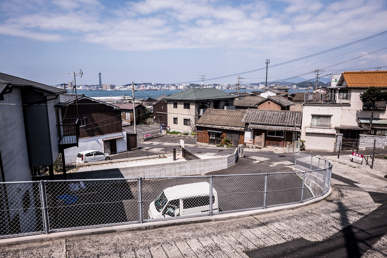 La vista dell'Honshu, al di là dello stretto, da Kitakyushu