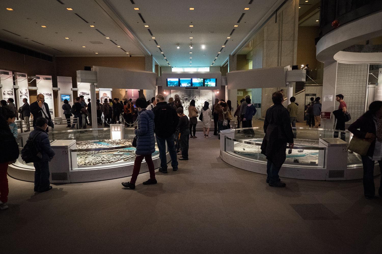 L'interno del museo.