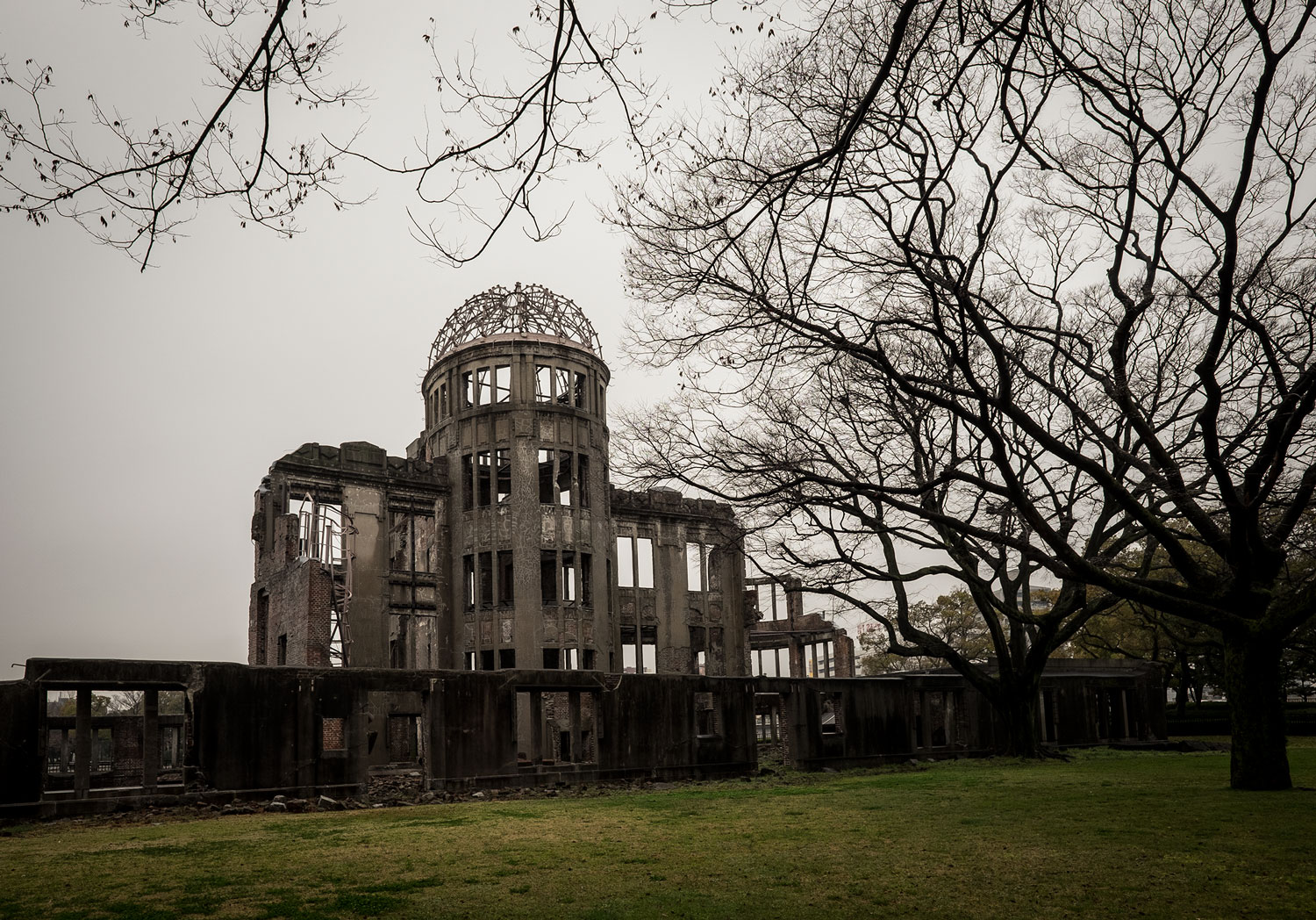 The Hiroshima Peace Memorial (pretty much the only building that remained after the atomic bomb)