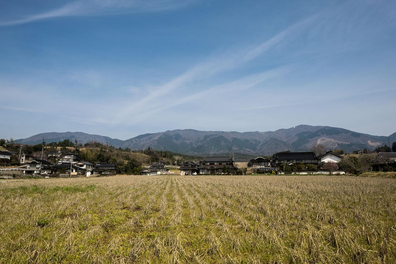 La campagna intorno a Okayama prima delle montagne.