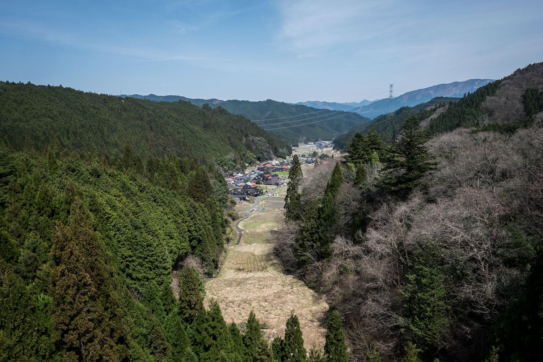 La vista dal punto più alto della catena montuosa.
