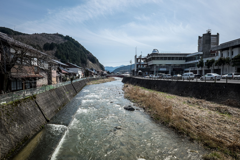Una delle pochissime città che abbiamo incontrato sulla strada per Tottori