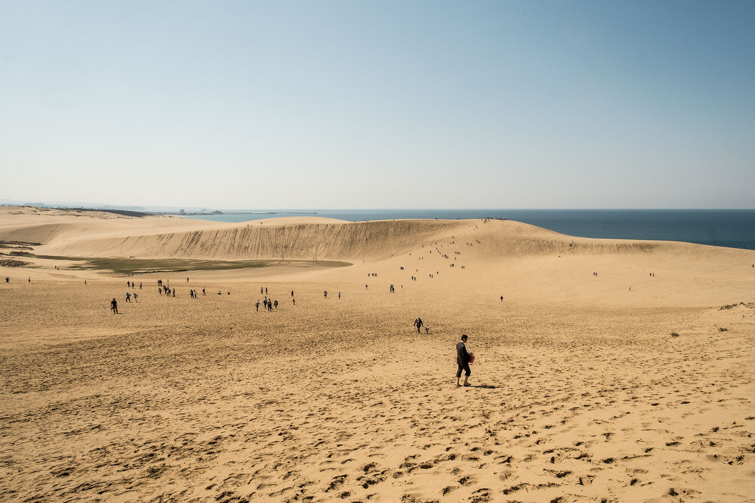 The Tottori sand dunes.