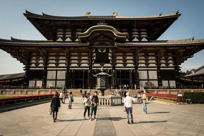 Il Todaiji, contenente la più grande statua di Buddha del giappone.