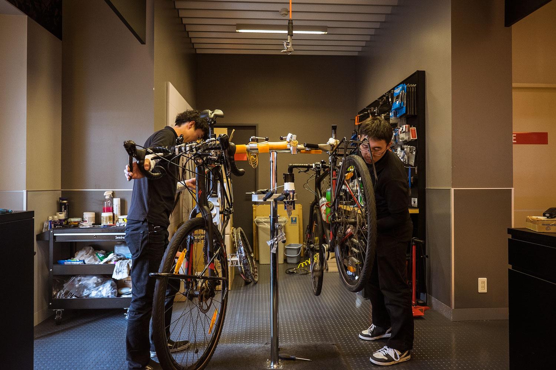 Takuya and Masatomo working with our Tricross