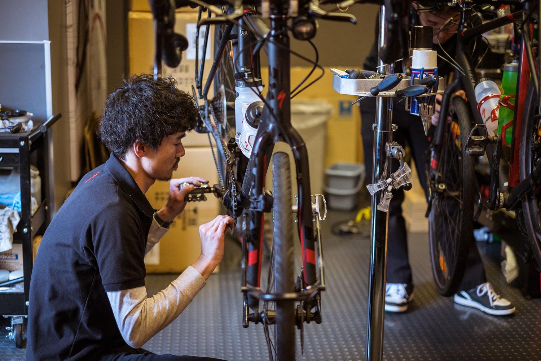 Takuya working on my Tricross