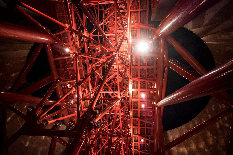 The gigantic ferris wheel structure!