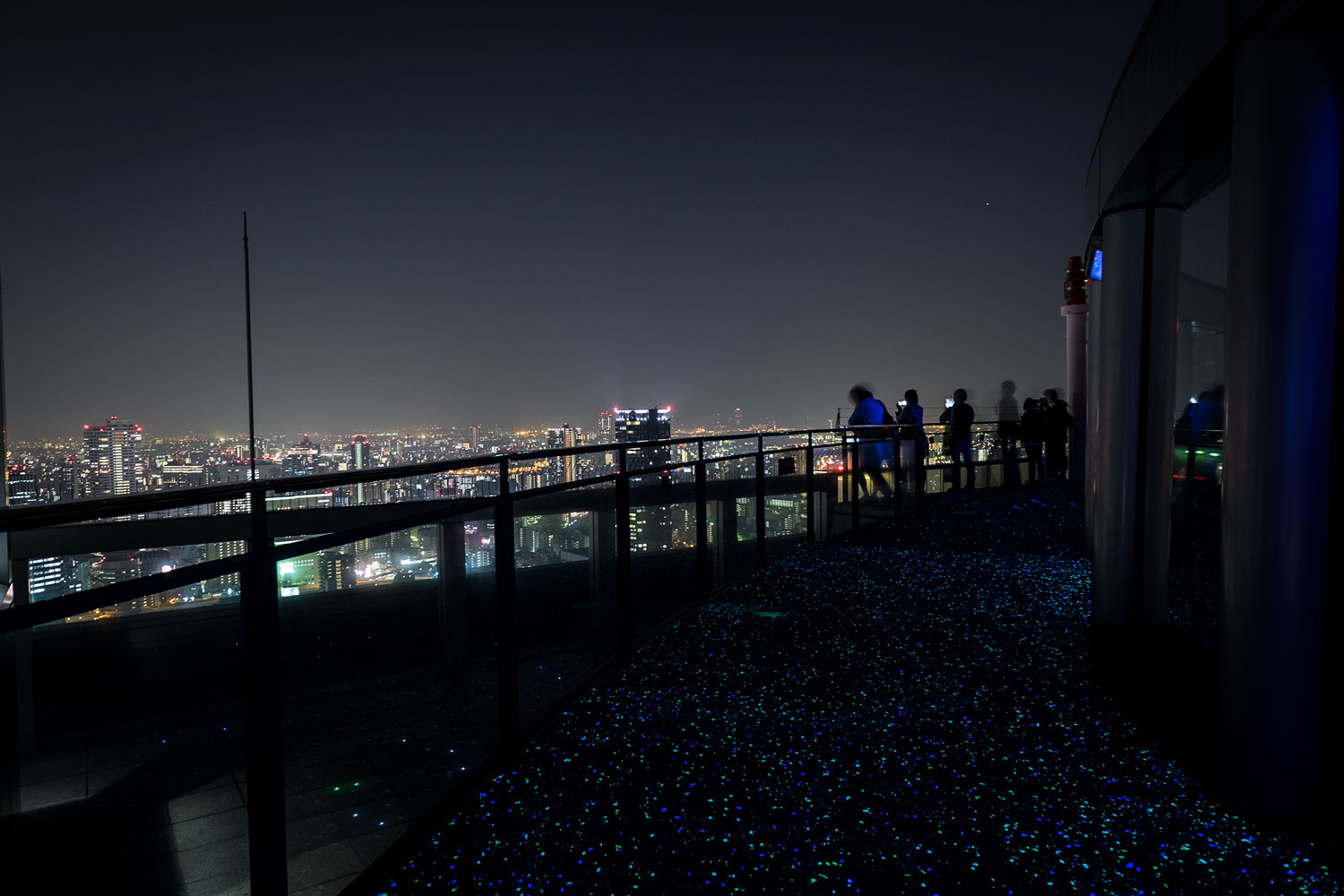 The observatory on top of the Umeda Sky Building