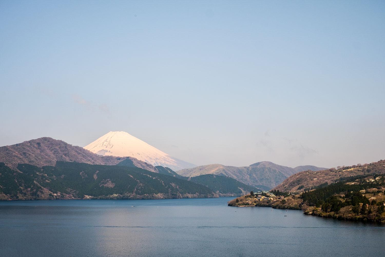 View of Mt.Fuji from lake Ashi
