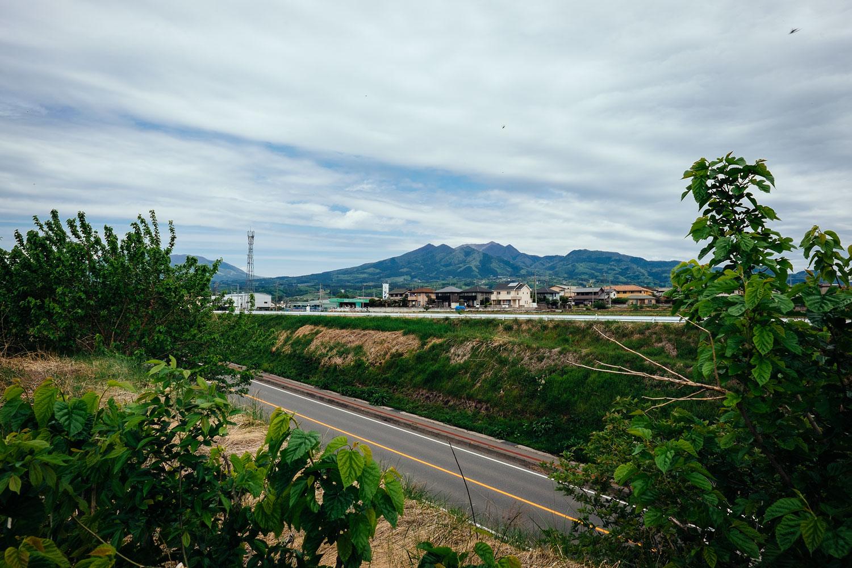 Le alpi giapponesi da lontano