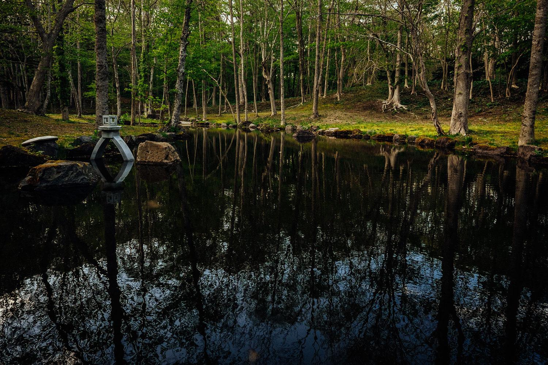 Un piccolo lago incontrato lungo la strada
