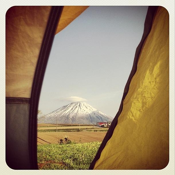 La vista dalla nostra tenda al risveglio.